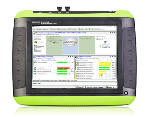 OptiView XG 可攜式有線/無線網路效能及測試儀器